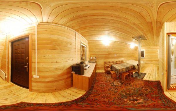 Четырехместные номера в деревянном доме